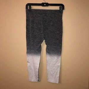 Pants - Gray ombré active capris